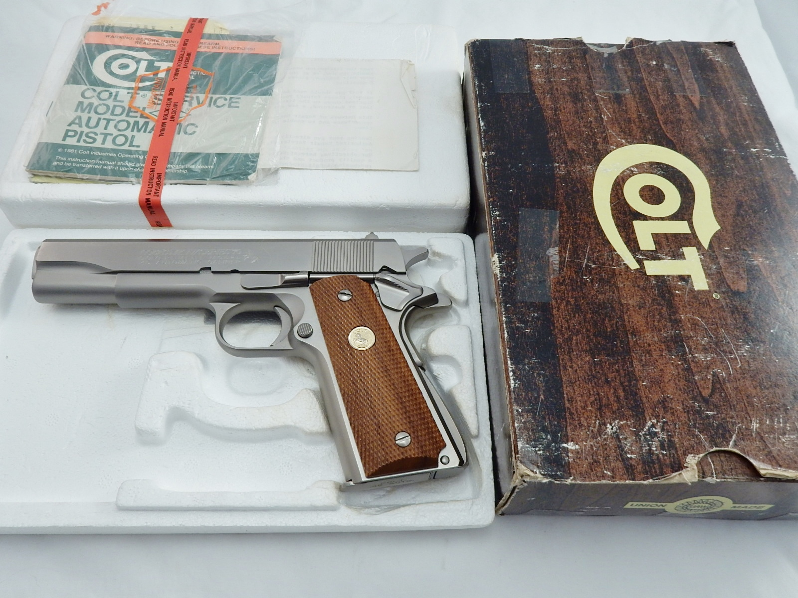 Colt 1911 Series 70 Electroless Nickel In The Box